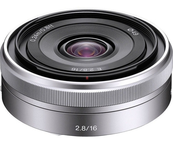 Lente Sony E 16mm F/2.8 Nota Fiscal