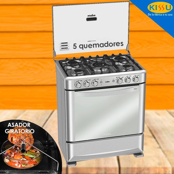 Cocina Mabe A Gas 76cm 5q Inox Grill Rosticero Parilla Hierr