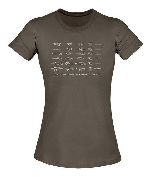 Camiseta Feminina Invictus T-shirt Concept Arsenal
