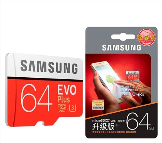 Samsung Evo Plus Micro Sd Sdxc Uhs 64gb C10 U3 100mb/s 4k