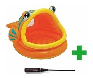 Pileta Inflable Para Bebes Intex Fish Pescadito Con Inflador