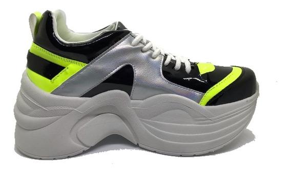 Zapatillas Mujer Plataforma Detroit Altas Comodas