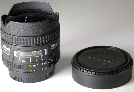 Objetiva Nikkor Fisheye 16mm F2.8d