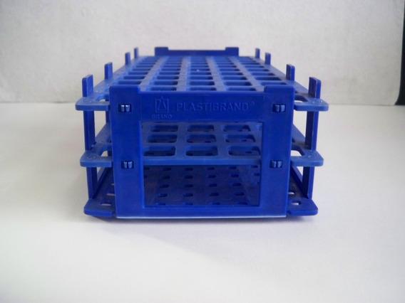 Gradilla De Plastico Para Tubos De 16 Mm Color Azul