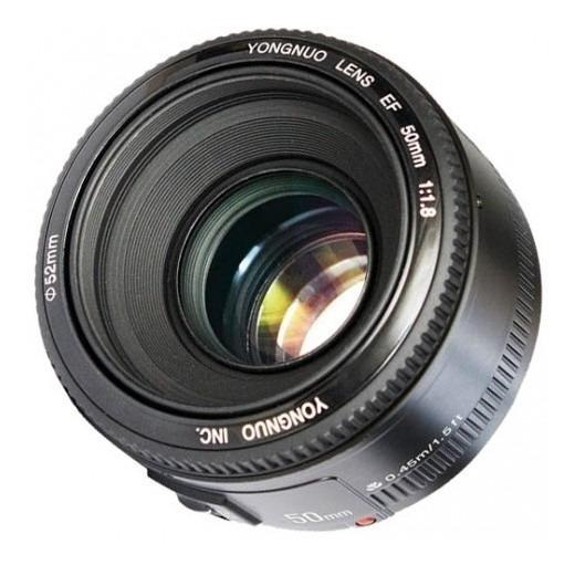 Lente P/ Canon Marca Yongnuo 50mm F 1.8 Frete Gratis+brinde