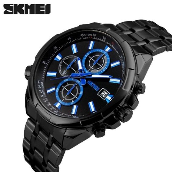 Relógio Masculino Skmei 9107 De Pulso Original Luxo Barato