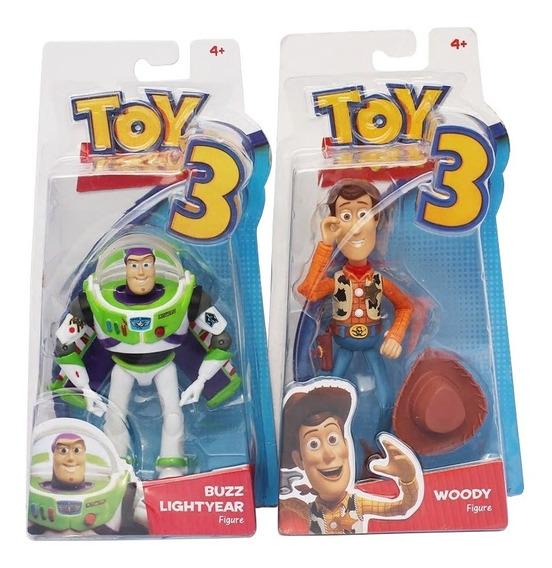 Kit Bonecos Toy Story Buzz Lightyear Woody Xerife Boneco