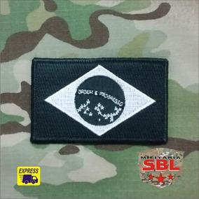 Patch Bandeira Brasil Noturna Militar