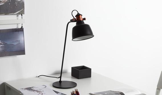 Luminária De Mesa Slim Moderno Preto E27