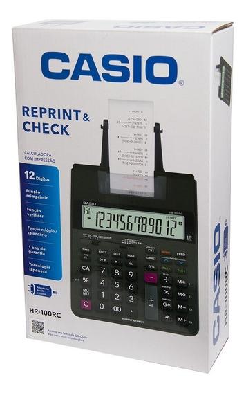 Calculadora Original Hr-100rc Casio C/ Impressão 12 Digitos