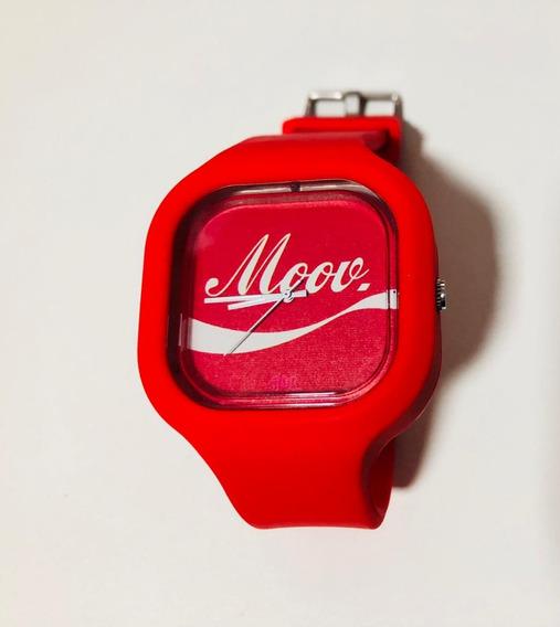 Relógio Coca Cola Adulto Infantil Troca Pulseira Silicone