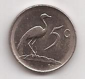 Sudafrica Moneda De 5 Cents Año 1977 !!
