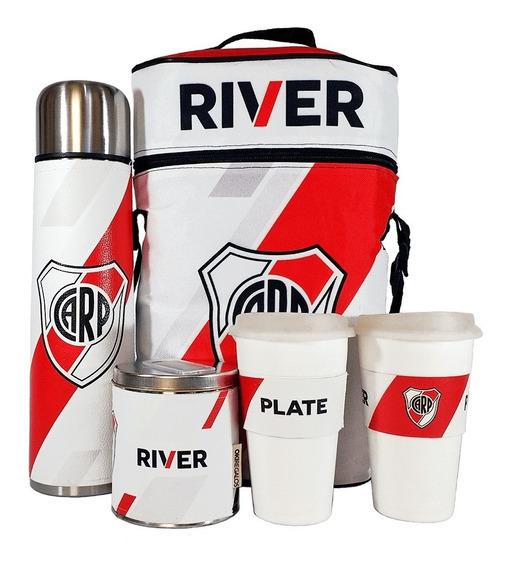 Equipo De Cafe Te River Plate Set Cuero Completo Cafetero