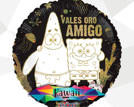 Globo Metálico 14 De Febrero - Bob Esponja Amigos 100% Helio