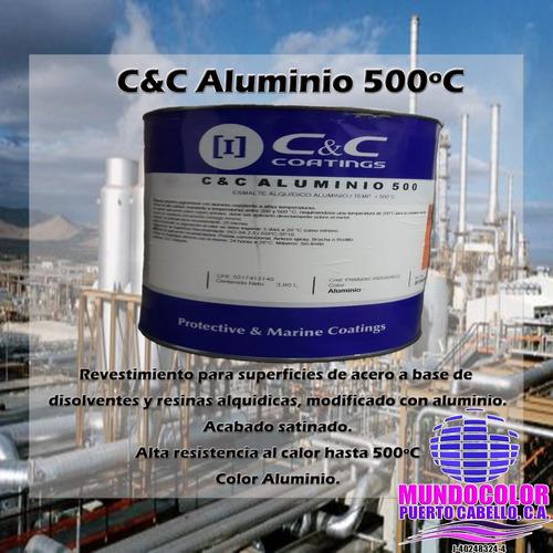 Pintura Esmalte Aluminio Alta Temperaturas 500 Grados C&c