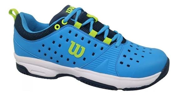 Zapatillas Tenis Wilson Naranja Verde Azul Blanco