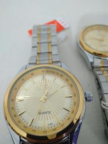 Relógio Masculino Prata Dourado Prova Dágua Luxo + Brinde!!