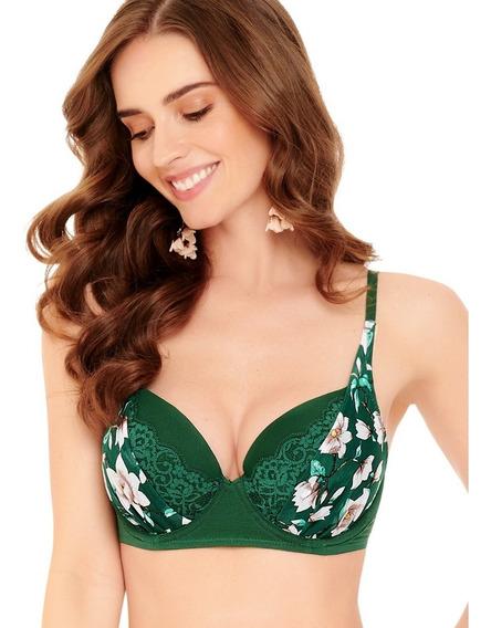 7925 1180 Bra Encaje Lenceria Sexy Bikini Ilusion Vino Verde