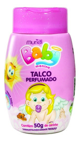 Talco Perfumado Muriel Para Bebê Menina Baby Menina 50g