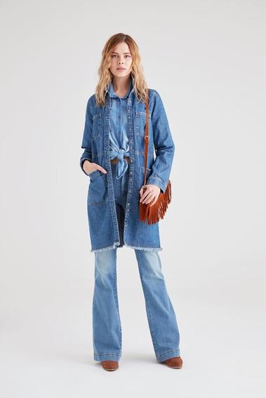 Calças - Low Rise Flare Jean