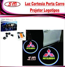 Luz De Cortesia Projetor Logomarca Mitsubishi L200 Triton
