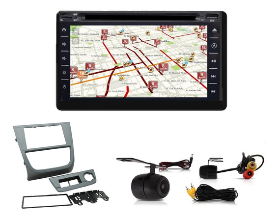 Central Multimidia Tv Gps Gol G5 +moldura+câm+brinde