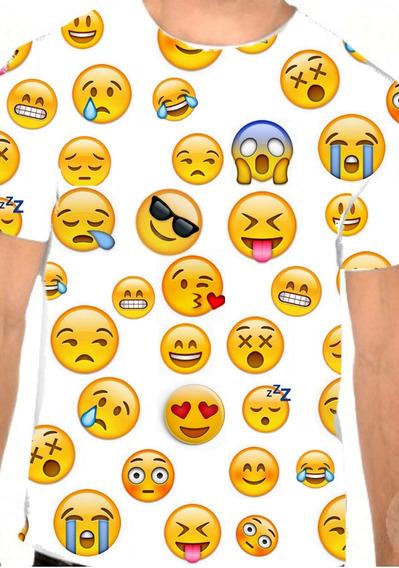 Camiseta Carinhas Do Zap Whatsapp Emoji - Emoticons