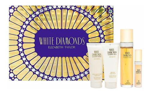 White Diamond Elizabeth Taylor Eau De Toilette Juego De Rega