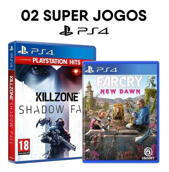Killzone Shadow Fall + Far Cry New Dawn Ps4 Mídias Lacradas