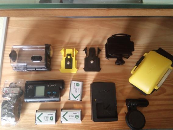 Câmera Sony Action Cam Hdr-as20 Vários Acessórios Originais