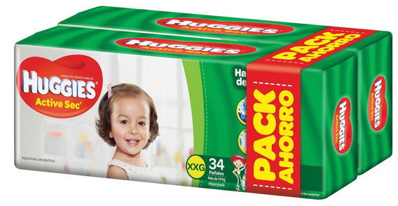 Huggies Active Sec Xxg X 68