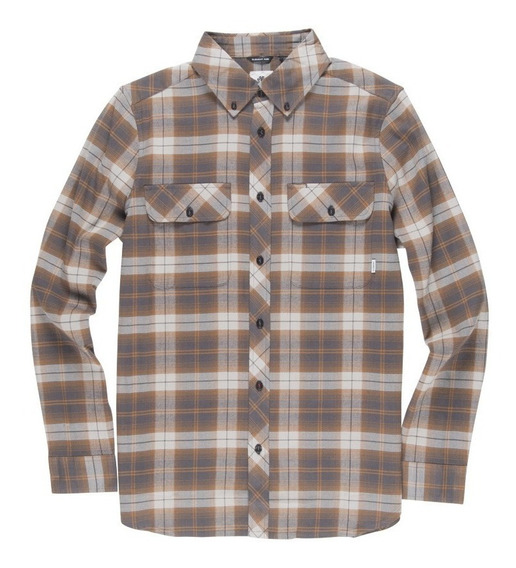 Camisa M/l Element Wild Ls Somke Grey Hombre M561tewi