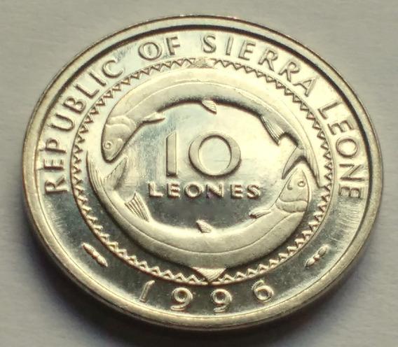 Moneda De Sierra Leona, 10 Leones 1996. Sin Circular.