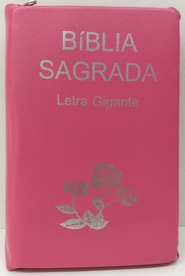 Bíblia Letra Gigante - Ra -zíper - Pink Lisa