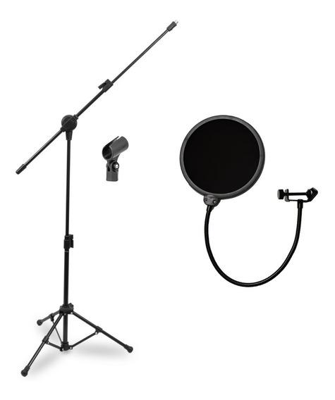 Arcano Pedestal P/ Microfone Pmv-100-pac + Pop Filter Am-f1