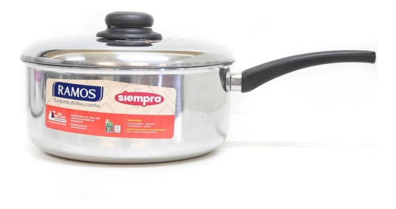 Cacerola Aluminio C/ Mango 18 Cms Ramos Brasil