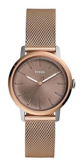 Relógio Fossil Feminino Neely Rosé Es4468/1jn