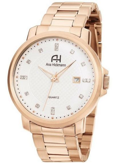 Relógio Ana Hickmann Rosê Grande Original Ah29061z