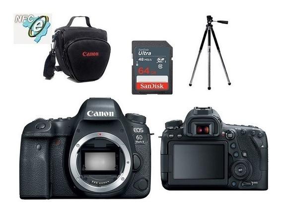Canon Eos 6d Mark Ii Corpo + Bolsa+tripé+64gb Nota Fiscal