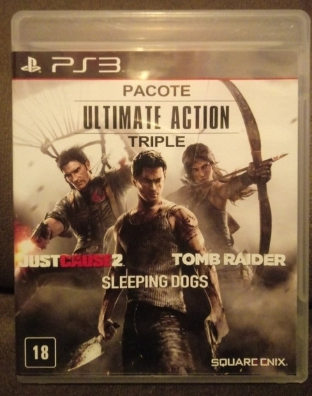 Tomb Raider +sleeping Dogs + Just Cause 2 Mídia Física