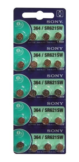 20 Baterias Pilha Sony 364 Sr 621 Bateria Original Relógio