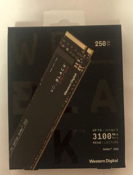 Quatro Ssd Wd 250 Gb Black Nvme , Pró Gamer, Nvme Pci 3.0