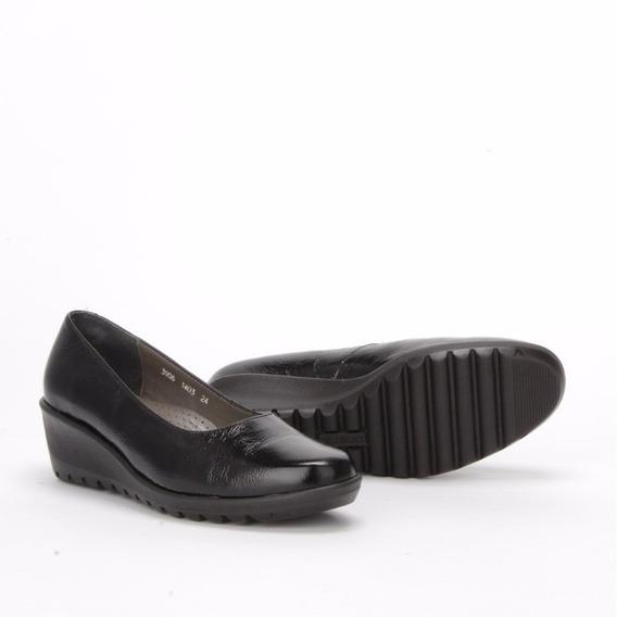 Zapatos Calzado Mocasines Dama Negro 3970 Onena Charol Suave