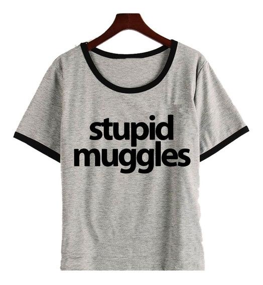 Remera Stupid Muggies Harry Potter Mujer
