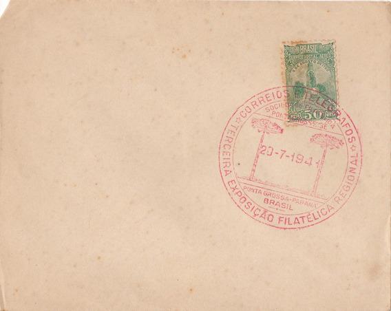 Envelope1941 3ª Exposição Filatélica Ponta Grossa Paraná