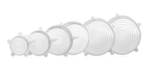Set Tapas De Silicona Ajustables X6