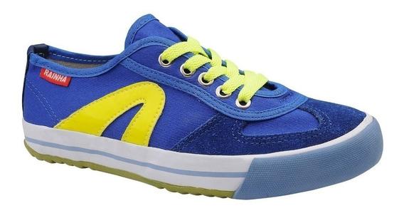 Tenis Rainha Vl2500 Capoeira, Futsal, Esportivo,azul Amarelo