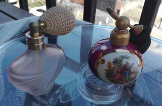 Par Perfumeros Antiguos Con Válvula Atomizadora Ver Descrip