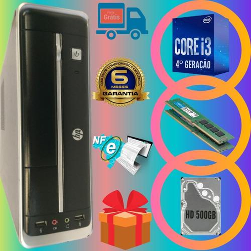 Computador Hp Intel I3 4º Geração 4gb Hd500 + Wi-fi + Win.10