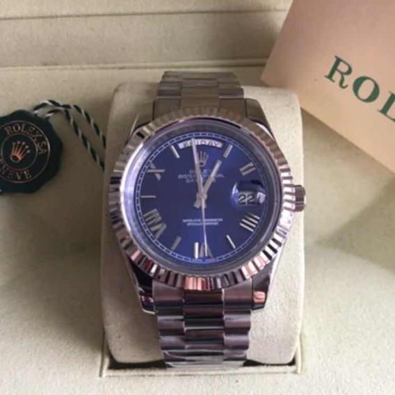 Relógio Rlx D.a.t.e.j.u.s.t Automático,vidro Safira,novo